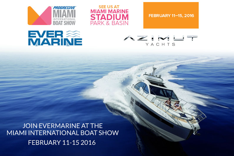 Únete Evermarine en el Miami International Boat Show de febrero de 11-15, 2016