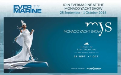 Join Evermarine at the 2016 Monaco Yacht Show